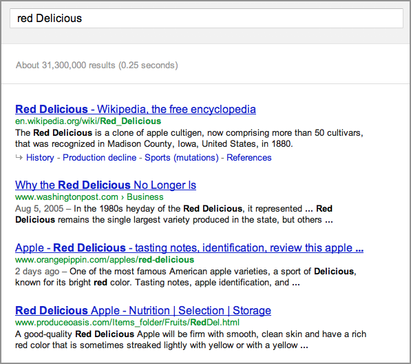 Figure Search Results For Red Delicious