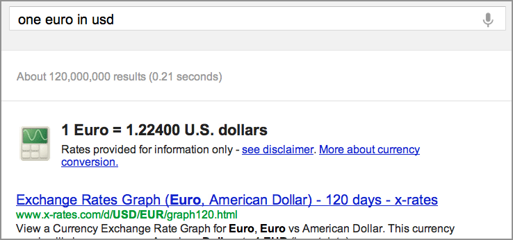 Figure Conversion Result For One Euro In Usd